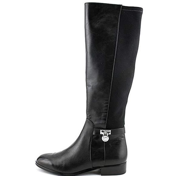 d982b48e85f18 Michael Kors Black Hamilton Tall Boots Size 8M. M 5b6df5fa800dee546160848f